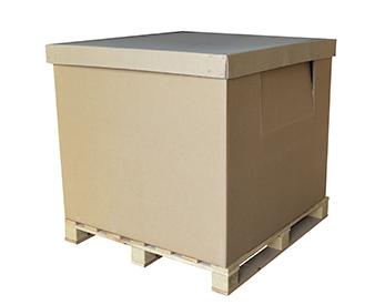 caja de carton con palet