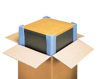 Caja de carton con objeto dentro