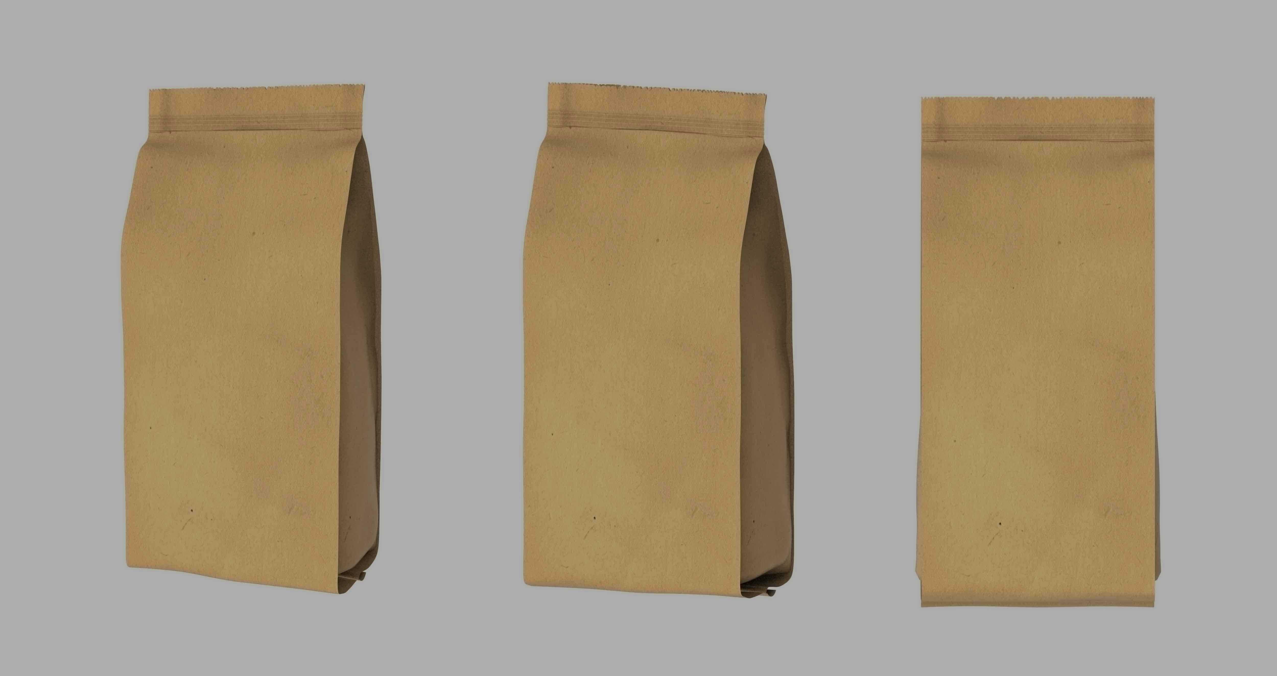 Bolsas de papel marrones con filtro gris